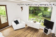 Germany, north rhine westphalia, interior of living room before burglary Stock Photos