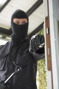 Germany, north rhine westphalia, burglary breaking into family home Stock Photos