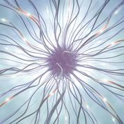 Nerve Cell Pulse - stock illustration