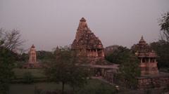 Khajurao Temple Stock Footage