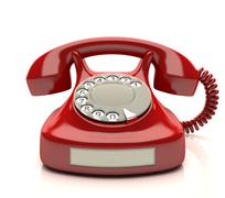 Stock Illustration of Red Phone Label