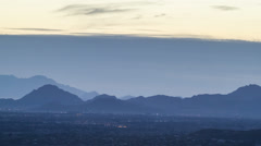4K UHD NTSC  Storm front arrives late afternoon evening over Tucson Arizona Stock Footage