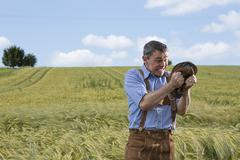 Germany, bavaria, farmer getting angry Stock Photos