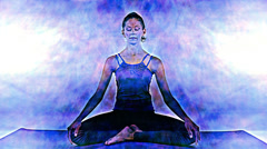 Yoga, energy power and vitality Stock Footage