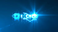 Blue Glow Particle Stroke Optical Flare Logo Reveal Stock After Effects