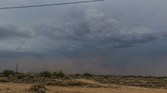 4K UHD NTSC tight shot Haboob dust storm approach south Phoenix in time lapse Stock Footage