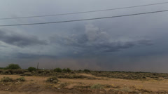4K UHD NTSC Haboob dust storm approaches southern Phoenix in time lapse Stock Footage