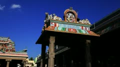 Pan shot of a temple Stock Footage