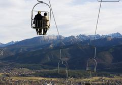 chairlift in tatras mt, podhale, poland - stock photo