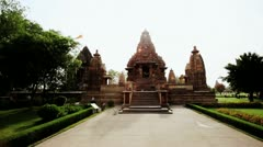 Locked-on shot of a temple - stock footage