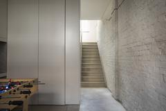 empty house with staircase - stock photo