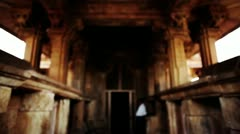 interiors of a temple - stock footage