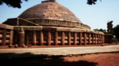 The Stupa of Sanchi Stock Footage