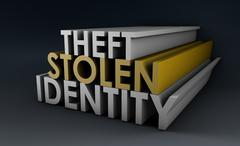 Stolen identity Stock Illustration