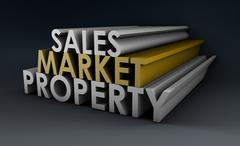 sales market property - stock illustration