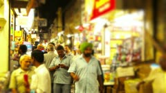 Locked-on shot of a market Stock Footage