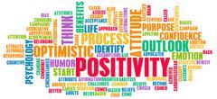 positivity - stock illustration