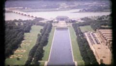 422 - Washington DC in early 1940 - vintage film home movie - stock footage