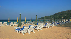 Karon beach one of the most famous and popular beaches in Phuket island Stock Footage