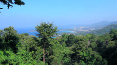 Kata Karon Viewpoint in Phuket Island Stock Footage