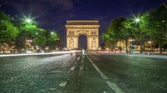 Arc de Triomphe Stock Footage