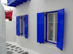 Greek islands houses - stock photo
