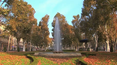 Autumn landscape in a park Stock Footage