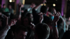 Young Hip People Partying - Hands in the air on dance floor. - stock footage