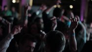 Stock Video Footage of Young Hip People Partying - Hands in the air on dance floor.