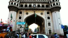 Tilt up shot of Charminar Stock Footage