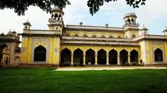 Pan shot of Chowmahalla Palace Stock Footage