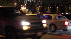 Young Hip People Partying - Getting out of Limo Stock Footage