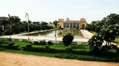 Pan shot of Afzal Mahal in Chowmahalla Palace Stock Footage