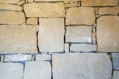 Usa, texas, natural lime stone wall Stock Photos