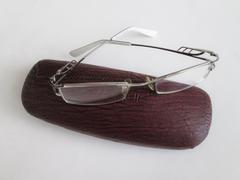 glasses and a spectacle case - stock photo