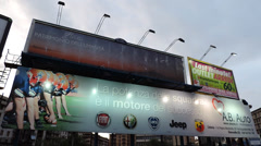 AD space, Billboards, OK for greenscreen project. Stock Footage