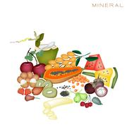 Health and Nutrition Benefits of Mineral Foods Stock Illustration