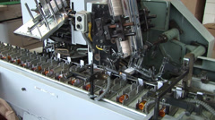 Automated production of medicines. Packaging of drug Stock Footage