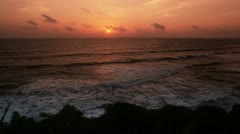 Shot of waves in the sea at dusk Stock Footage