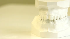 Dental cabinet. Braces illustration before and after set Stock Footage