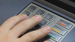 PIN, ATM, Credit Card. Stock Footage