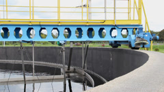 Sewage treatment plant - Waste water treatment  (circular sedimentation tank) 2 Stock Footage