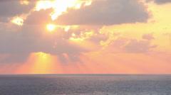 Sky, sea, clouds. - stock footage