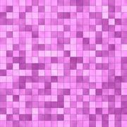 Pink tile mosaic Stock Illustration