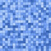 Blue square tile pattern Stock Illustration