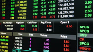 Stock Video Footage of Display of Stock market