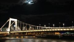 The Danube in Budapest Stock Footage