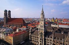 Munich historical center Stock Photos
