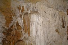 karst formations in the cave. - stock photo