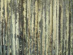 Wood fence with lichen Stock Photos